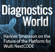 Diagnostics World: Hannes Smarason on the Future of the Platform for WuXi NextCODE